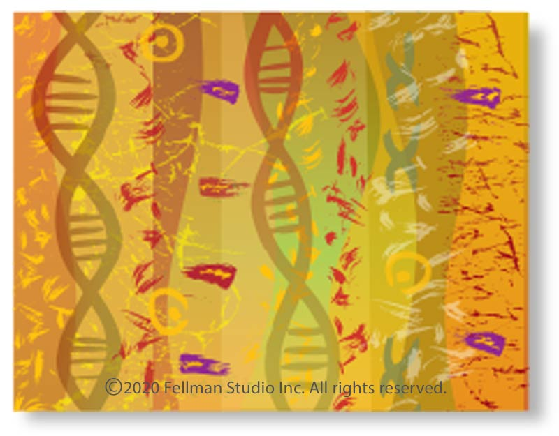 """Double Helix"" notecards"