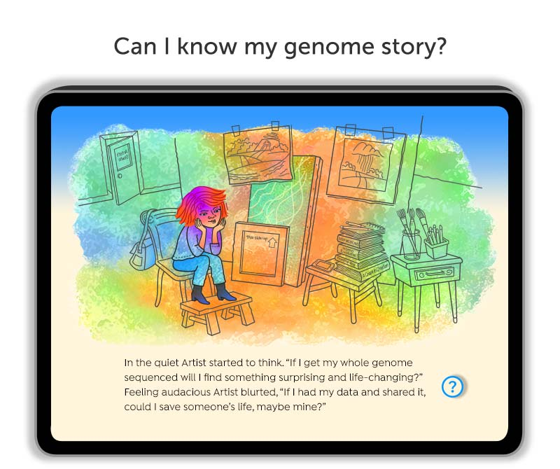 """We Want Our Genome Story"" digital book"
