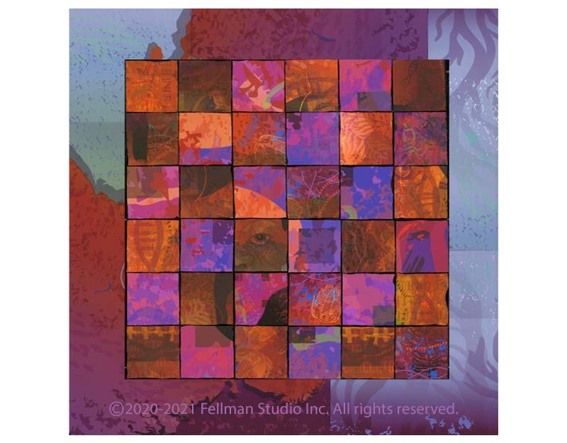 "Genetic-themed ""Polyform"" fine art prints"